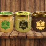 Дизайн эттикеток для медового набора
