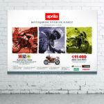 Создание и дизайн рекламного плаката для «Aprilia»3